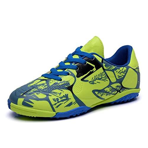 GWYX Botas Fútbol para Niños Niñas Zapatos Fútbol FG/AG Fútbol Atletismo Entrenamiento Shoesenager Botones Fútbol Interior Zapatillas Deportivas Al Aire Libre Zapatillas para Unisex VIIPOO,Red 1-38EU