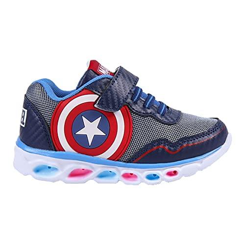CERDÁ LIFE'S LITTLE MOMENTS, Zapatillas con Luces Niño de Avengers-Licencia Oficial Marvel, Azul, 33 EU