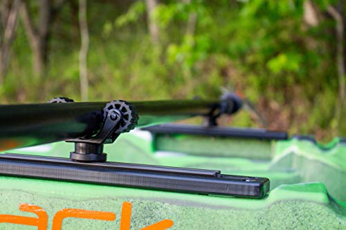 Yakattack RotoGrip Paddle Holder, Track Mount 5 Utilizes the Mighty Bold to Attach to Kayak Track 2.25 Inches Tall GearTrac Not Included