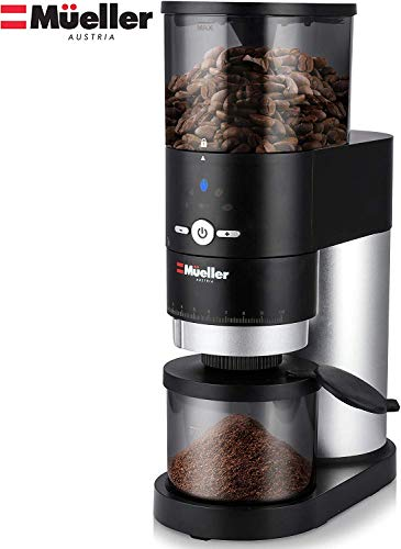 Cheapest Prices! Mueller Ultra-Grind Conical Burr Grinder Professional Series, Innovative Detachable...