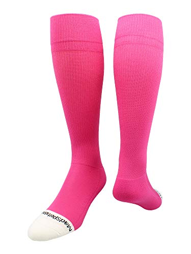 MadSportsStuff Pro Line Over the Calf Baseball Socks (Neon Pink, Small)
