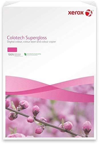 Xerox Colotech+ Premium 003R97687 - Carta per stampa laser a colori/foto Supergloss, formato DIN A3, 250 gr/m², 100 fogli, colore: Bianco