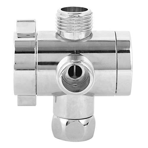 Válvula de desvío G1 / 2 Soporte de cabezal de ducha multifunción Desviador de ducha de tres vías ABS con diseño de pulido para mangueras de jardín Filtros de agua Pulverizadores Uso(Tipo 2)