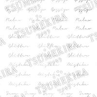 TSUMEKIRA(ツメキラ) ネイルシール 西山麻耶プロデュース5 addiction・・・ ホワイトゴールド SG-NYM-108 マルチカラー 1枚