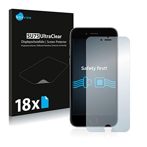 savvies 18-Pezzi Pellicola Protettiva Compatibile con iPhone 6 Plus   6S Plus Protezione Schermo Trasparente