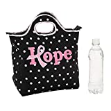 Fun Express - Pink Ribbon Neoprene Lunch Tote - Apparel Accessories - Totes - Misc Totes - 1 Piece
