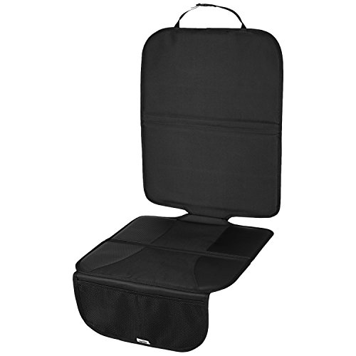 CARTECO Komfortable Autositzauflage, universelle Größe, anthrazit, Kindersitzunterlage, Schutz vor Kindersitze