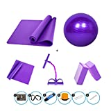 GLL- Equipo de la Aptitud Yoga Set/Longitud 1850 * Ancho 610 * Grosor 10mm / Ejercicio Mat/Pilates/Fitness Mat/Yoga Ball/Yoga Belt/Yoga Ladrillo/Cofre/Yoga