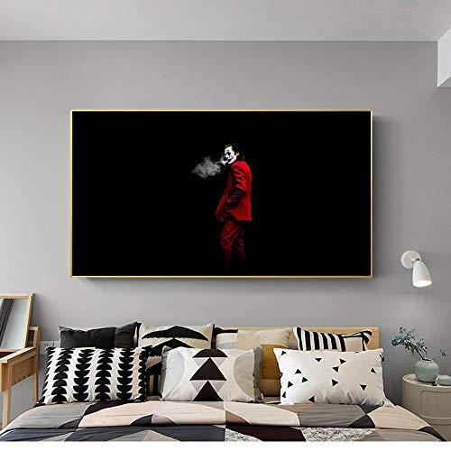 KWzEQ Filmclown Leinwand Malerei Comic Wandkunst Clown Dekoration Familienbild Filmplakat70X125cmRahmenlose Malerei