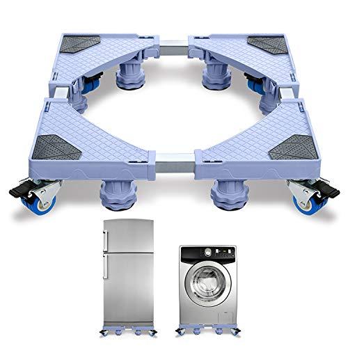 HENGMEI Einstellbare Waschmaschinen-Untergestell Roller Trolley Beweglich Waschmaschine Sockel 8 Fuß für Trockner, Waschmaschine und Kühlschrank