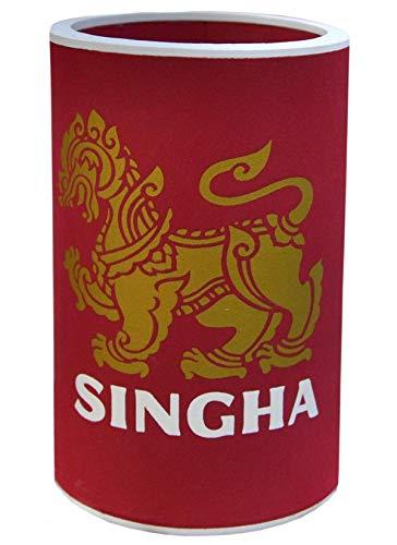 Wilai Flaschenkühler Bierkühler Dosenkühler Getränkekühler Bierflaschen Cooler ***SINGHA*** In Vier erhältlich (Rot)