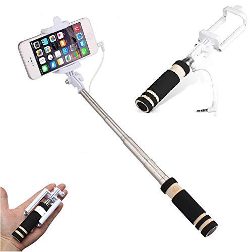 Shot Case Mini Selfie Stick per iPhone 7Plus Asta Android iOS Nero