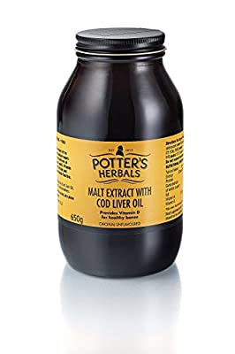 Potters Malt Extract Cod Liver Oil 650g X 2 (Pack of 2)