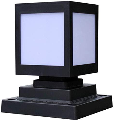 Beautiful Home Decoratielampen 10 W LED Solar Solar Solar Lamp 3000K warm licht Moderne zwarte aluminium kolom lichtkubus ontwerp waterdicht IP44 Pathway gazon pad tuin buiten staande verlichting