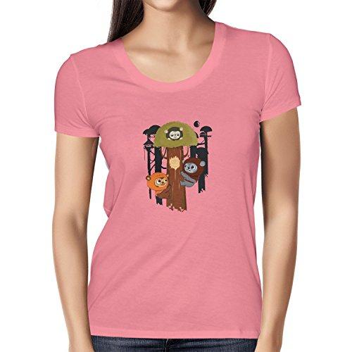 Texlab Damen Ewok Community T-Shirt, Pink, XL