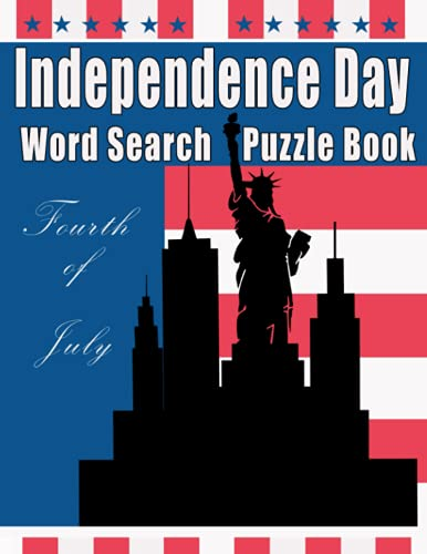 Independence Day Word Search Puzzle Book: Fourth of July American Memorial Day Activity book with Patriotic Quotes for Kids and Family