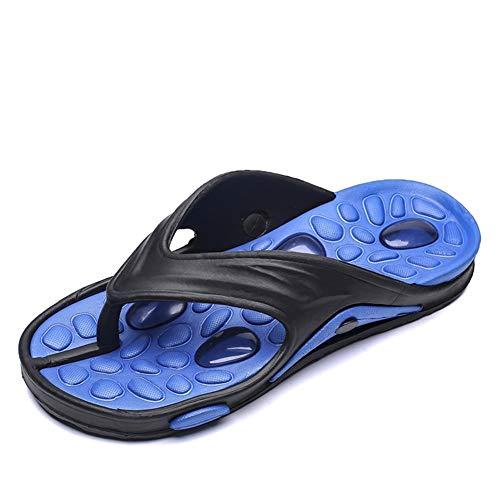 XYAL0003001 Xingyue Aile pantoffels & sandalen lichte strandpantoffels voor heren, slip-on-bovenmateriaal van kunststof, zool met tweekleurige reliëf. Platte schoenen voor binnen en buiten.