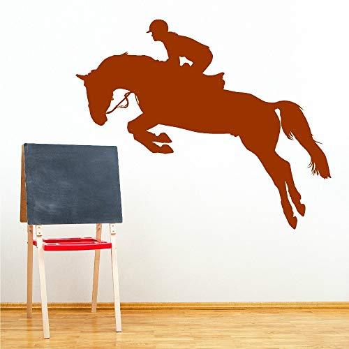 Tianpengyuanshuai ridder Voltigieren paard vinyl muursticker woonkamer slaapkamer behang kunstenaar Resident decoratieve muursticker