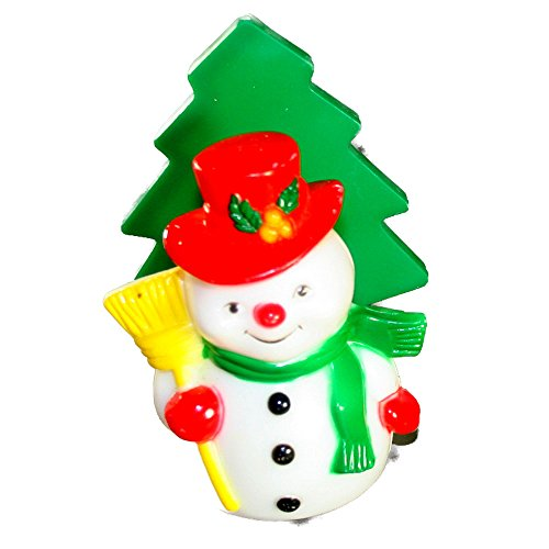 JSNY Plastic Snowman Card or Napkin Holder-VINTAGE CHRISTMAS Hard Plastic 4 Inches