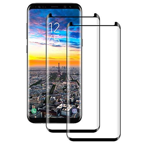 Protector de Pantalla para Samsung Galaxy S8 Plus Cristal Templado, [2-Pack] Cobertura Completa [9H Dureza] [3D Curvado] [Resistente a Arañazos] Vidrio Templado Screen Protector para Galaxy S8 Plus