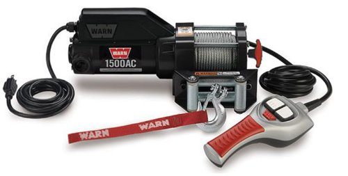 WARN 85330 1500AC 120V Electric Utility Winch - 1,500 lbs. Capacity