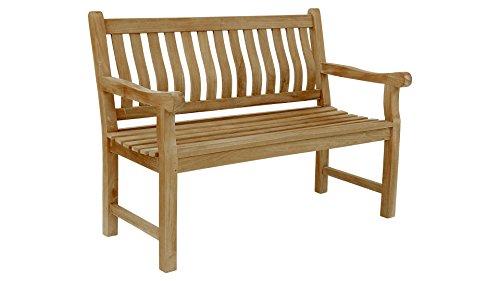 Beho Natürlich gut in Holz Gartenbank Pica Ergo-Bank 180 cm Teakholz Selected Kernholz unbehandelt zusammengebaut