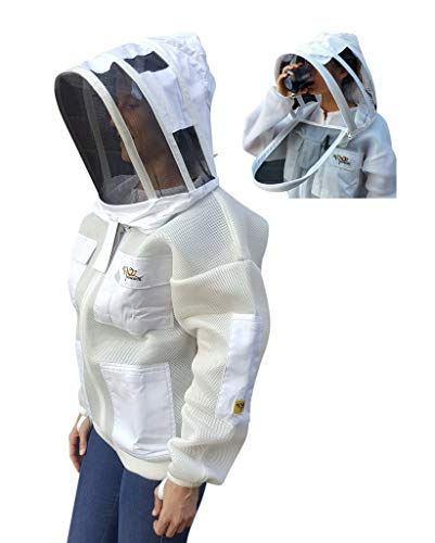 OZ ARMOUR Double Layer MESH Ventilated Jacket Fencing Veil with Free Gloves (XX-Large)