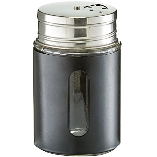 Zeller Gewürzstreuer, Glas, silber/schwarz, Circa Ø 7 x 11,5 cm