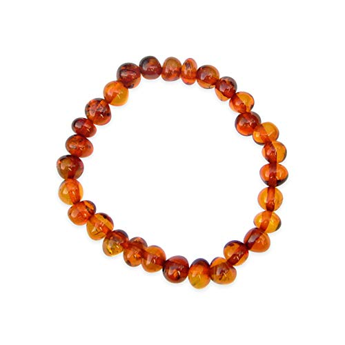 Ashton and Finch Child's Amber Small Beaded Bracelet   Free Presentation Box   For Birthdays, Weddings And Special Occasions For Men & Women