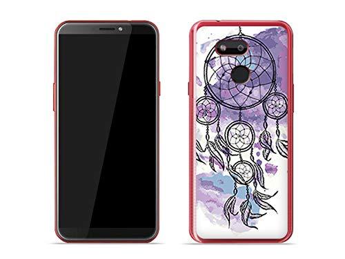 etuo Handyhülle für HTC Desire 12s - Hülle Fantastic Hülle - Violetter Traumfänger - Hülle Schutzhülle Etui Hülle Cover Tasche für Handy