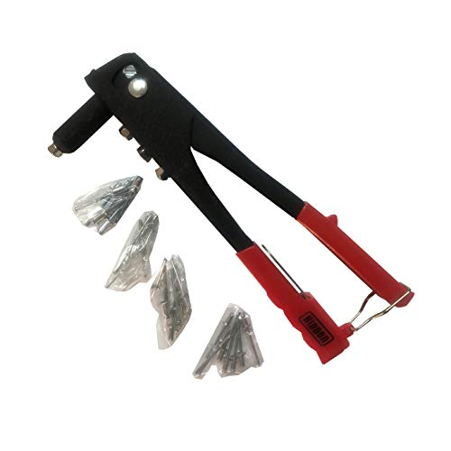 KIPPEN 1029 Remachadora Manual de Metal con Remaches Surtidos, 225 mm