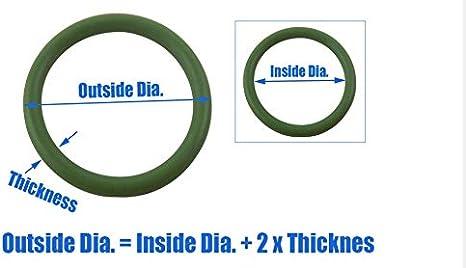 Taille : 56x49x3.5mm W-NUANJUN-SPRING Epaisseur de 5pcs vert FKM Joint torique Joints Joint Rondelle 56//57//58//60//62//65//68//70//72//75 78mm OD Fluor Joints toriques