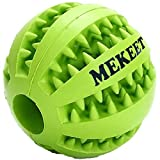 MEKEET Dog Ball Chew Toy Tooth Cleaning Play Rubber Ball Treat Toy Nontoxic