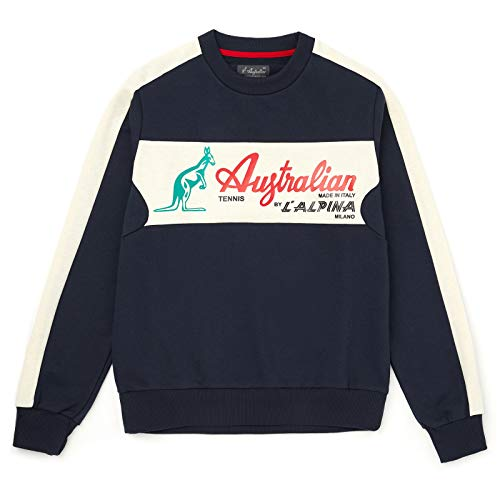 Australian Sweatshirt with Block Panel Logo