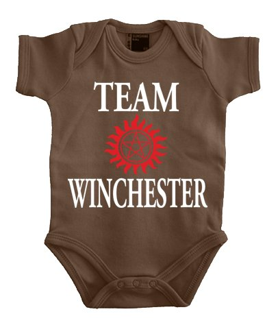 Touchlines Baby Body Team Winchester Bros Luzifer, Marron (Brown), 2 Mois (Taille Fabricant: 56) Bébé Fille
