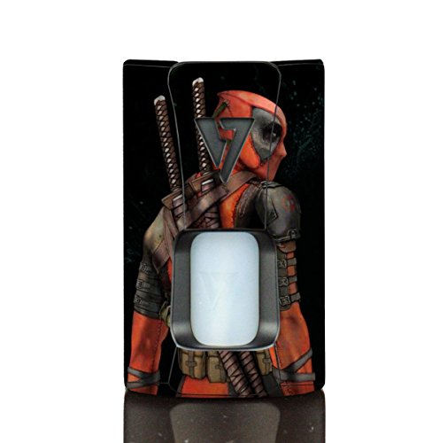 Wrap For Desire Design Tech OHM Boy Rage Squonk Skin Skins DPool 02 Vinyl Decal Sticker