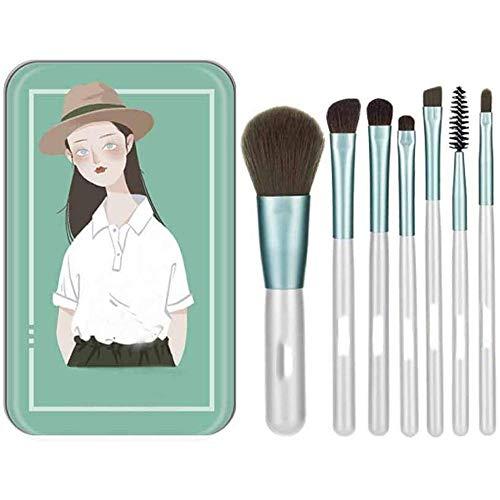 LMDH 7 pièces Pinceau de Maquillage Ensemble poignée Professional Premium synthétique Fondation Blending Fard à Joues Correcteur Cosmétiques Visage Yeux Brosses Kit