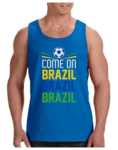 Green Turtle T-Shirts Camiseta de Tirantes Hombre - Vamos Brasil! - Regalo para los Fans de la Selección Brasilera Fútbol