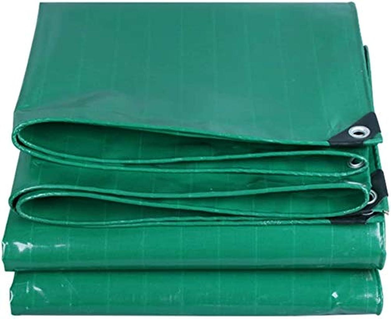 タンザニアぜいたく思い出させるDJPB ガラスクリアターポリン防水ヘビーデューティ防水カバータープヘビーデューティ防塵防雨ターポリンアンチエイジング断熱材、カスタマイズ可能 4PB08 (色 : 緑, サイズ : 4x4.0M)