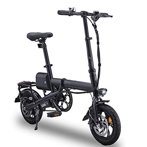 TANCEQI Bicicleta Eléctrica Plegables, 350W Motor Bicicleta, Velocidad Máxima De 25 Km/H para Adultos Y Adolescentes Y Viajeros Que Compiten, La Carga Máxima Es De 100 Kg, Negro