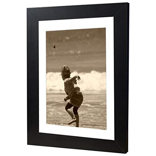 Bilderrahmen Fotorahmen 40x60 cm Schwarz bilderrahmen zum aufhängen MDF Picture Frames Farbe und 40 Verschiedene Größen wählbar ohne Passepartout Rahmen Ayleen