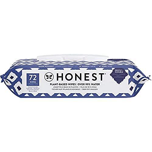 Honest Toallitas para Bebé, 72 toallitas - patrón de azul Ikat