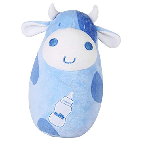 Aufblasbares Stehaufmännchen Plüschtier Stehaufpuppe Stehaufffigur für Baby Kinder Erwachsene - Kuh