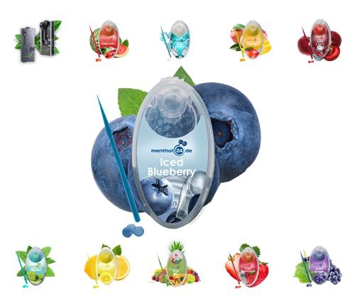 menthol24de Aroma Kapseln verschiedene Sorten (Iced Blueberry, 100)