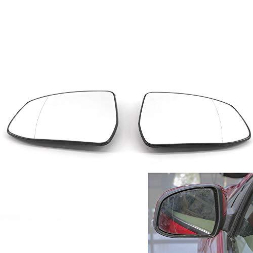 Ala puerta de coche Retrovisor Espejo lateral climatizada de cristal blanca en forma for el Ford Focus 2012-2014 Par