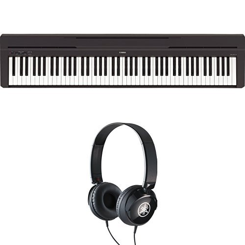 Yamaha P-45B Digital Piano schwarz + Yamaha HPH-50B Kopfhörer schwarz Bundle