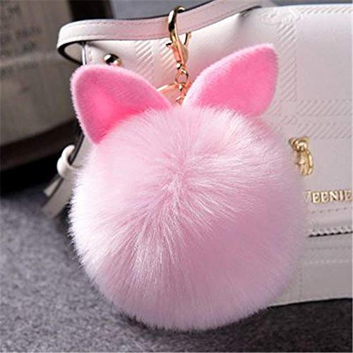 U/N Fancy & Fantasy Chain Fluffy Bunny Sleutelhanger Haarbol Zak Auto Ornament Haarbal Sleutelhanger-13