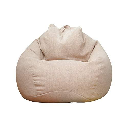 Freizeit Fauler Sitzsack,Lazy Lounger Mit Hoher RüCkenlehne FüR Wohnzimmer Schlafzimmer Spielzimmer Schlafsaal(Khaki 3 GrößEn),Khaki,Sofa 80 * 90cm