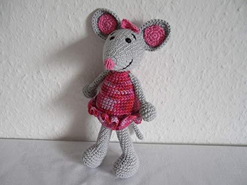 Kuscheltier Ballerina - Maus gehäkelt, gehäkelte Maus