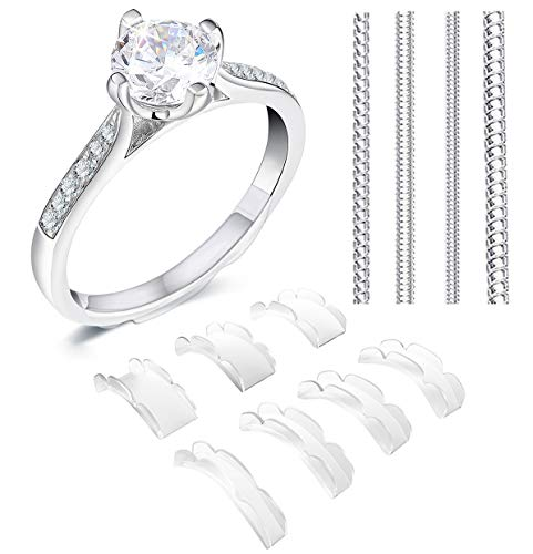 Coopache Invisible Ring Size Adjuster 2 Styles for Loose Rings – Ring Guard, Ring Sizer, 11 Sizes Fit Almost Any Ring
